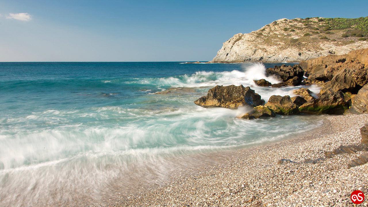 La spiaggia dell'Argentiera in provincia di Sassari
